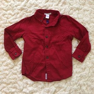 Janie and Jack 4T long sleeve red button down